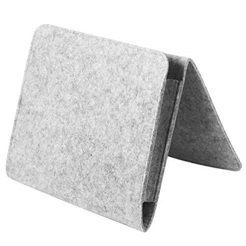 STOBOK Bolsa de almacenamiento de fieltro para sofá, 1 funda de tela creativa para cabeceros, soporte duradero para dormitorio, 25 x 22 x 6 cm