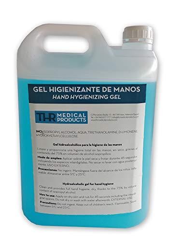 THR - Gel hidroalcohólico 5 L (fabricado en España)
