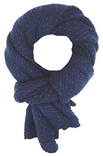 Ella Jonte Écharpes foulard d'homme hiver élégant et tendance de la dernière collection by Casual-style bleu noir