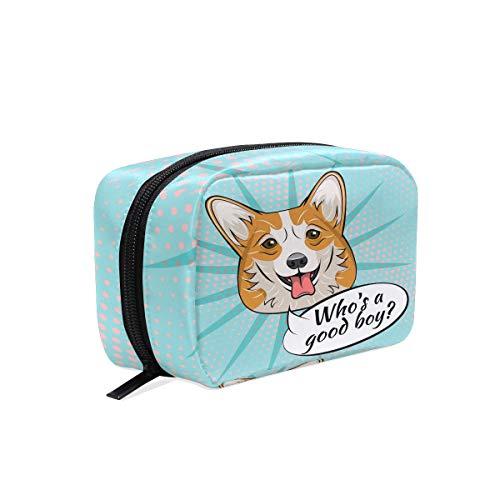 Corgi - Neceser para Cara de Perro, Estuche de Maquillaje de Viaje, Organizador portátil para Cachorros, Gran Capacidad, Bolsa de Almacenamiento para niñas y Mujeres al Aire Libre
