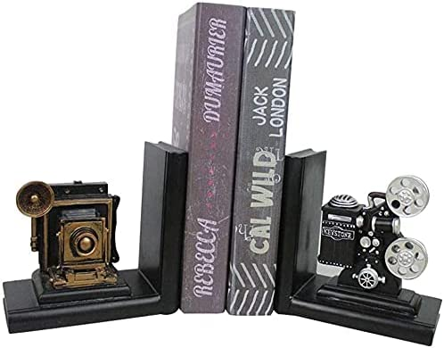 ZHANGWJ Gorgeous Decoration Bookends Crafts 35% OFF Limited price sale Bookend Retro Camera