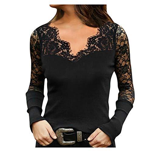 AILIEE Camiseta de tirantes para mujer con cuello en V y cuello de pico y hombros descubiertos, estilo largo #3 Negro XL