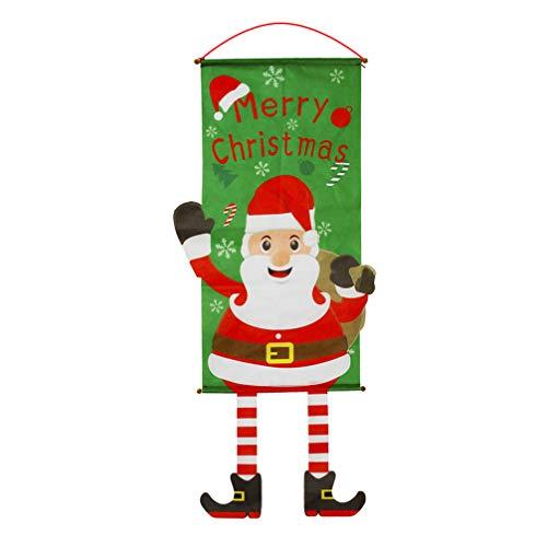 Weihnachten Garten Flaggen Santa Claus Elk Banner Doppelseitig DIY Party Decor