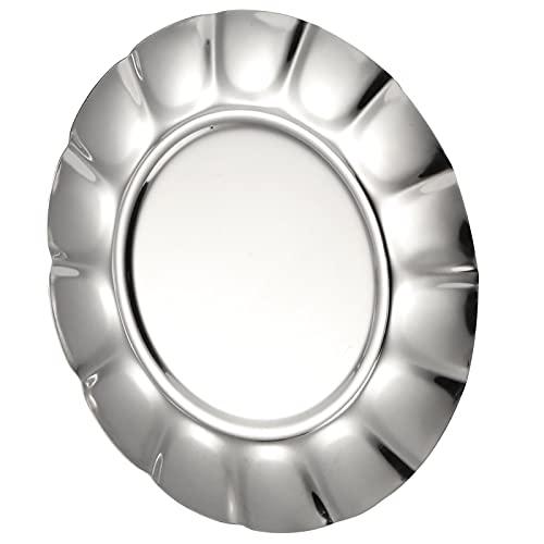 Plato de Cena de la Bandeja de la porción de la Comida del Pulido del Espejo para los refrigerios(7 Inch)