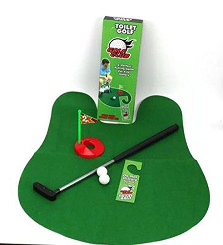Amasawa Toiletten Golf Set, 6-teilig, Golfschläger, Circa 62 cm,Töpfchen Putter Badezimmer Spiel Neuheit Putting Geschenk Spielzeug Trainer Set. - 3