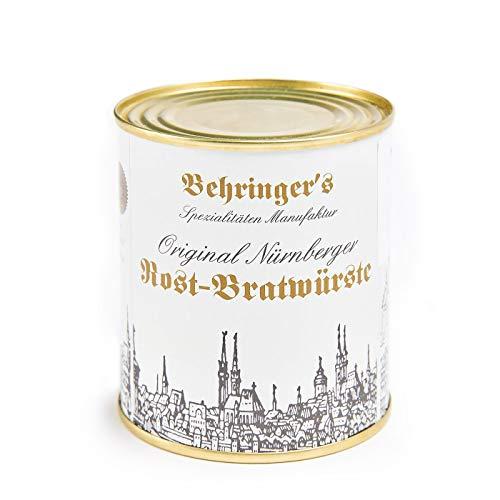 Behringer\'s Original Nürnberger Rost-Bratwürste 150g / 10 Stück in der Dose