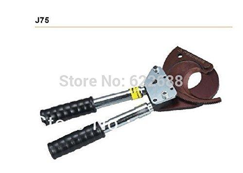 Manaul câble Outil de découpe à cliquet à cliquet Coupe-câble J75 75 mm2 Max Coupe-câble Pince, pas de coupe fil d'acier