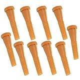 Wenxiaw Varilla de Depilación para Desplumar Pollo Desplumadora de Aves de Corral para Máquinas Desplumadoras de Pollos Máquina Desplumado Máquinas Desplumadoras en Húmedo, 9 cm, 10 Piezas, Amarillo