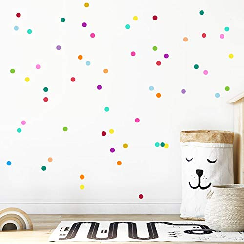 Mini confeti de colores - Vinilos decorativos con mini lunares de colores
