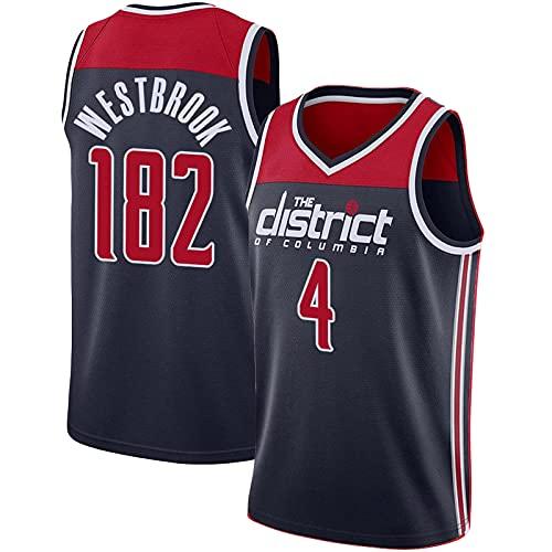 XGYD Westbrook Jersey, 4# Westbrook - Camiseta de baloncesto para hombre, 182 triple doble récord unisex, sin mangas, tela transpirable y de secado rápido, color cian-XXL
