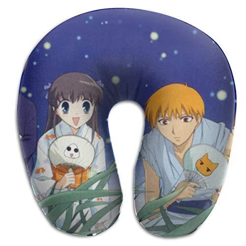 Hdadwy Fruits Basket Anime U Pillow Anime Multicolor Talla única para Aviones Almohada de Viaje Comodidad y conveniencia Dolor de Cuello para Dormir Almohada en Forma de U
