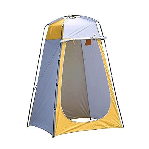 (N / A) Ajbzq tienda de campaña de privacidad portátil para la ducha, tienda de campaña, tienda de campaña para cambiar la playa, mochila al aire libre, toldo de refugio (color: amarillo)