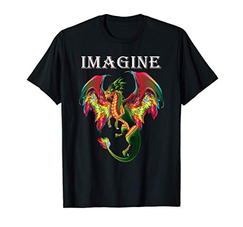 Imagine Being A Dragon Breathing Fire Magical Wings Boys Men T-Shirt