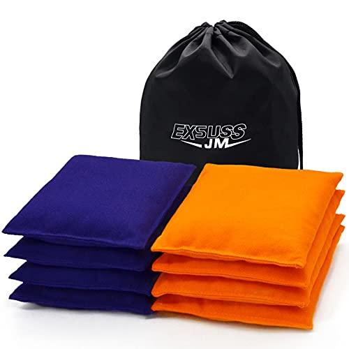 JMEXSUSS Weather Resistant Standard Corn Hole Bags, Set of 8 Regulation Cornhole...