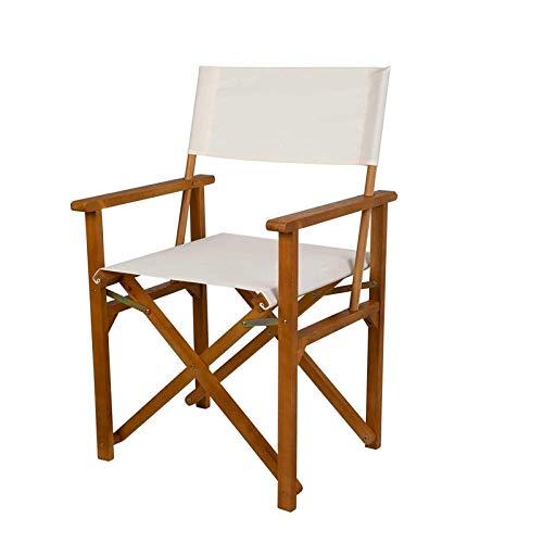 Président Chaise pliante Bois de hêtre massif peinture en plein air Esquissage Courtyard Balcon Home Simple Européenne Chaise de loisirs européen (Color : Director Chair)