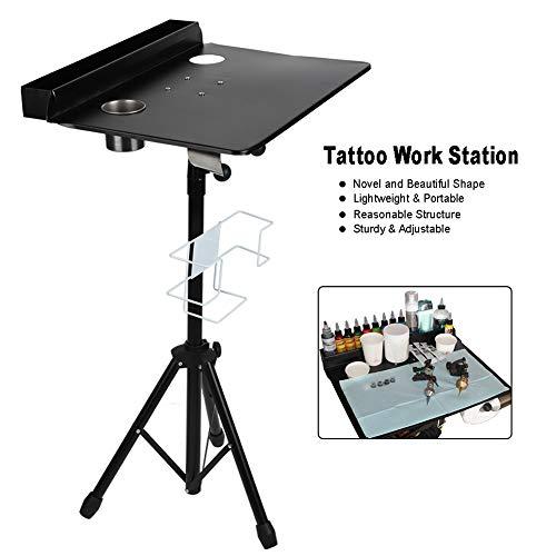 Mesa de Trabajo para Tatuar Soporte de Estación de Portátil para Salón y Tienda de Tatuaje Tabla...