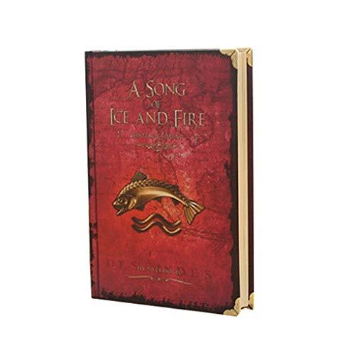 YANYAN Cuaderno Cuaderno clásico Cuaderno Juego de Tronos Cuaderno Tapa Dura Cuaderno Pestañas de Papel Libro Diario Libro de Aprendizaje Estudiante Diario (Color : Red)