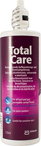 AMO TotalCare Lösung – Desinfizierende Benetzungs- und Aufbewahrungslösung für harte Linsen – Monatspackung – 1 x 120 ml