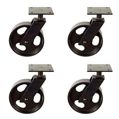 4x Lenkrolle vintage Look mit Löchern I aus Eisen I Möbelrolle Transportrolle I handgefertigt