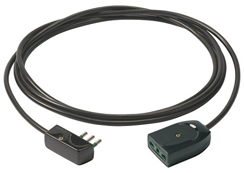 Vimar 0P32389 verlengkabel, 3G1 en platte stekker, 5 m, zwart