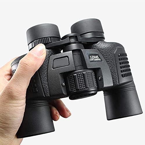 12X45 / 16X50 Binoculares Profesionales a Prueba de Agua Gran Angular Telescopio de Zoom HD de Alta Potencia para Viajes Camping Senderismo Observación de Aves
