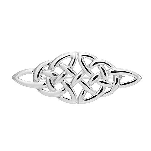 Sterling Silver Celtic Brooch and Jewellery Gift Box