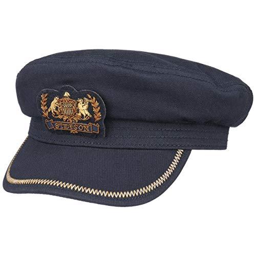 Stetson Casquette Allenport Capitaine Homme - Marin de Pilote avec Visiere, Doublure Printemps-ete - S (54-55 cm) Bleu