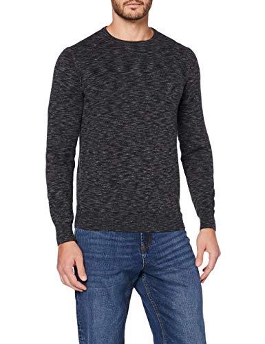 Marca Amazon - MERAKI Jersey Teñido Espacial Algodón Hombre, Negro (Black Black), XL, Label: XL
