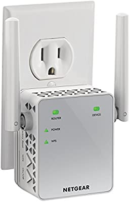 NETGEAR WiFi Range Extender EX3700 - Coverage up to 1000 sq.ft. and 15 devices with AC750 Dual Band Wireless Signal Booster & Repeater (up to 750Mbps speed), and Compact Wall Plug Design by Netgear Inc