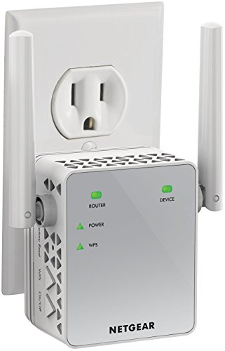 NETGEAR Wi-Fi Range Extender EX3700 - Coverage Up to 1000 Sq Ft and 15 Devices with AC750 Dual Band Wireless Signal Booster & Repeater (Up to 750Mbps Speed), and Compact Wall Plug Design