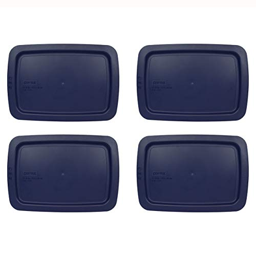 Pyrex C-232-PC Blue Easy Grab Replacement Baking Dish Lid – Will NOT Fit Standard Baking Dish - 4 Pack