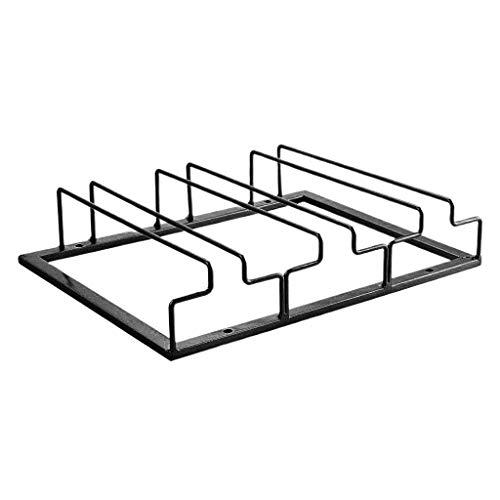 Keukenaccessoires, 3 rijen Hangende wijnglazen houder Omgekeerde metalen plank onder wijnglazen houder gemonteerd op kast Glazen opslag Metalen hanger Organizer voor barkeuken