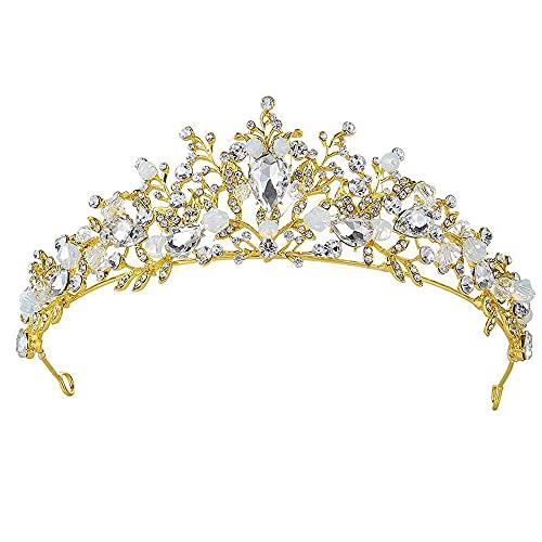 Corona Nupcial, Tiara de Boda, Tiara de Novia para Mujer, Tiara con...