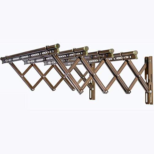 LYMHGHJ Tendedero de Aluminio Tallado Perchero para Secado de Ropa Perchero Plegable Percha para Tender la Ropa Poste Montado en la Pared Plegable Ahorro de Espacio Organizador de Almacenamiento de