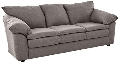 "Ravenna Home Darian Oversized Pillow Sofa, 92""W, Light Grey"