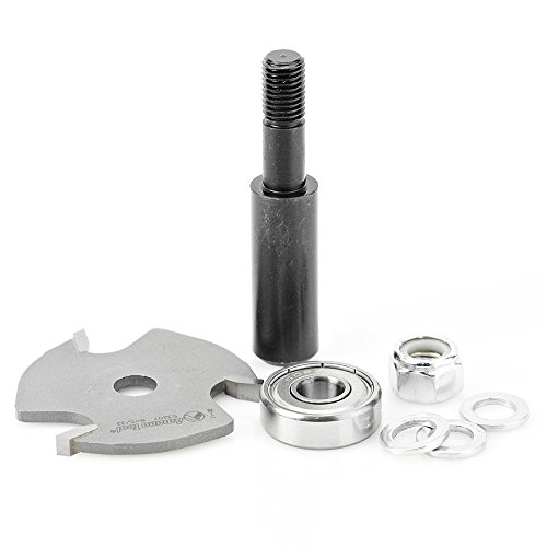 Amana Tool 53407 Slotting Cutter Assembly 3 Wing x 1-7/8 D x 5/32 CH x 1/4 Inch SHK Router Bit