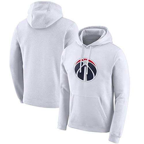 Edición Pullover Ciudad de los Hombres Camiseta de Baloncesto Washington Wizards Ropa de Entrenamiento Deportivo Informal Camiseta de Manga Larga Sudadera,XXL