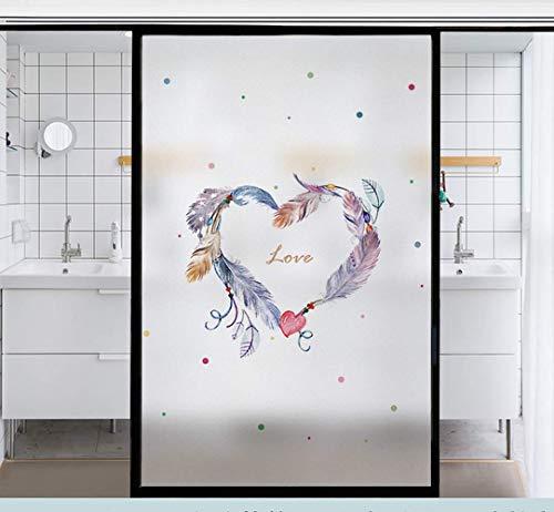 BGFS Película de vidrio translúcida y opaca, para ventana, antiprivacidad y antivisión, película de vidrio esmerilada, para ventana, cuarto de ducha (G,40 x 120 cm)