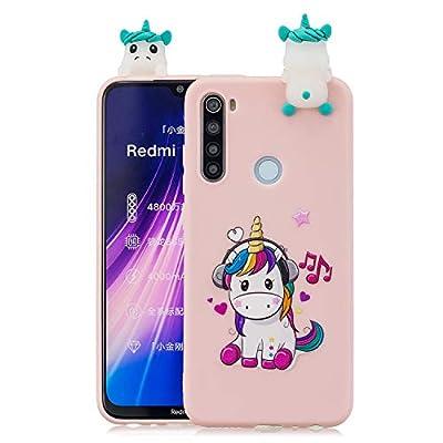ChoosEU Compatible con Funda Xiaomi Redmi Note 8 Silicona 3D Dibujos Unicornio Carcasas TPU Case Antigolpes Bumper Cover Protección Caso Flexible Gel - Unicornio
