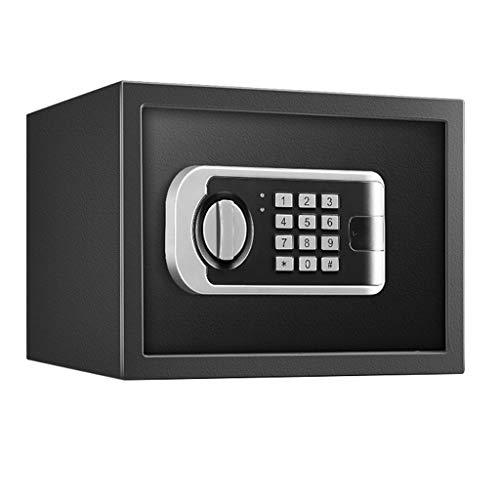 Casseforti Armadietto for chiave fissa for installazione fissa con password elettronica di sicurezza 31 * 20 * 20 cm Safe (Color : Black)
