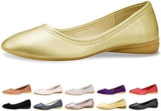CINAK Flats Shoes Women– Slip-on Ballet Comfort Walking Classic Round Toe Shoes
