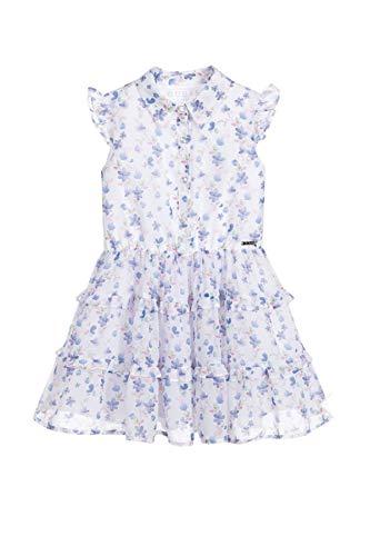 Guess - Vestido sin mangas para niña, estampado floral, color blanco