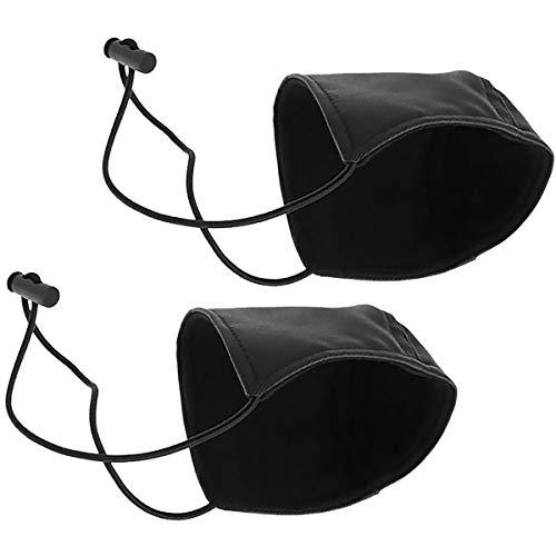 CAILI 2 Pièces Protection de Chaussure de Conduite Chaussure de Protection Anti-Usure pour Le Talon Tapis de Protection pour Le Talon de la Chaussure pour Le conducteur Noir