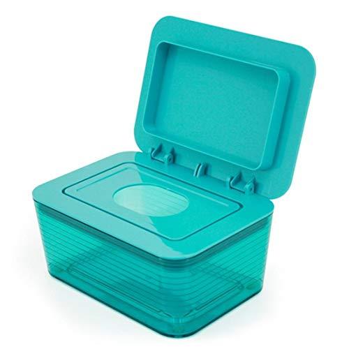 Sanitaire natte Tissue Box Baby verzegeld Pompen Papier Doos Thuis Woonkamer Dame Make-up Verwijder Nat Papier Handdoek Doos Groen