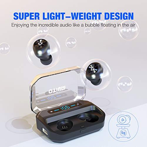 Otium Wireless Earbuds Bluetooth 5 0 Headphones With Digital Intelligence Led Display 3500 Mah Charging Case 135h Playtime