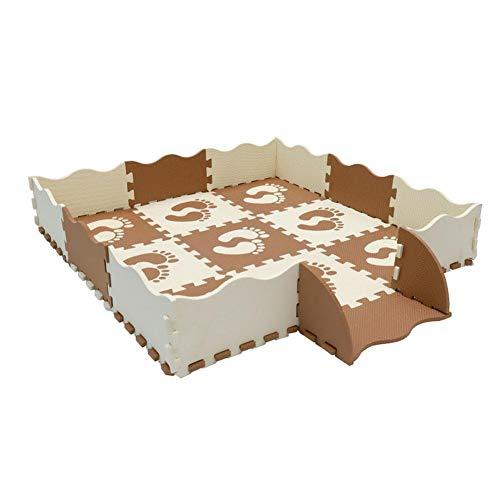 Eternitry Baby-Puzzle-Matte Boden Fliesen wasserdichte Eva-Schaum Playmat Kinder Spielzeug Kinder Footptint tragbare Creeping Jigsaw Ineinandergreifen Trainingsspiel Weichen Teppich