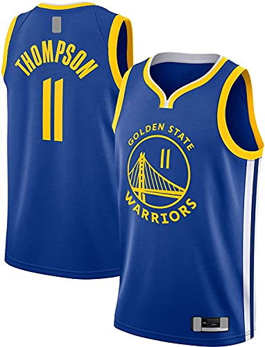 llp Klay Men's Thompson Traning Jersey Golden Basketball Jersey State T-Shirt Warriors # 11 Swingman Jersey Royal - Edición de Iconos (Color : Royal, Size : Large)