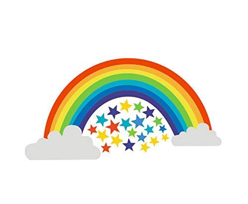 Adesivi da parete con stelle arcobaleno, per camera da letto, soggiorno, camera da letto
