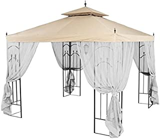 Garden Winds Replacement Canopy Top Cover for Hampton Bay Arrow Gazebo - Riplock 350 - Beige