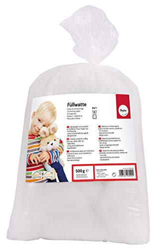 Rayher super-soft Polyester Fibrefill, washable Stuffing for soft toys, cushions and crafting